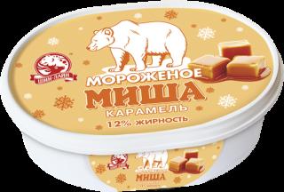 Карамельное мороженое в ванночке