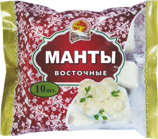 Манты с мясом 0,5 кг