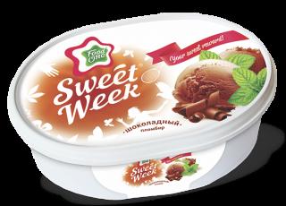 SWEET WEEK – шоколадный пломбир на основе натуральных сливок в ванночке